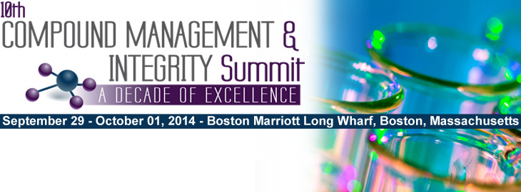 Celebrate a Decade of Excellence - Meet us at the 10th Compound Management and Integrity Summit in Boston, USA