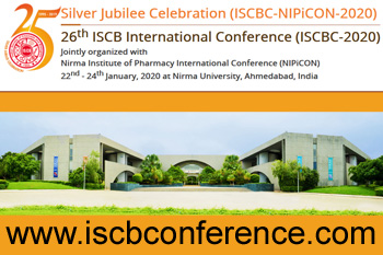 January 22-24th, 2020 26th ISCB Int. Conference (ISCBC-2020), Nirma University, Ahmedabad, India
