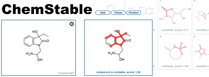 Data of Specs used to train ChemStable: A predictive model on compound stability now available as free web service
