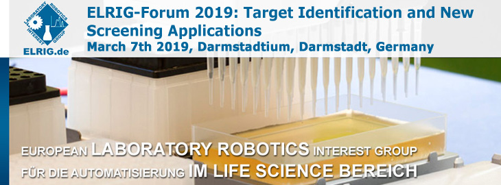 Meet us at the ELRIG-Forum 2019: Target Identification and New Screening Applications, Darmstadt, Germany