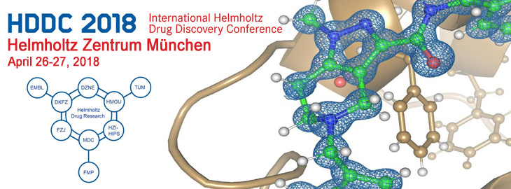 Meet us at the Helmholtz Drug Discovery Conference 2018 in the Helmholtz Zentrum Munich, Germany