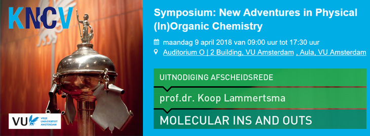April 9, 2018 New Adventures in Physical (In)Organic Chemistry, Amsterdam, The Netherlands