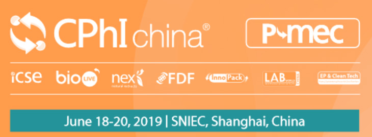 Meet us at the 2019 CPhI China in SNIEC Shanghai